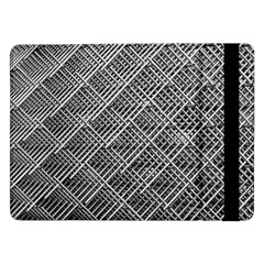 Grid Wire Mesh Stainless Rods Samsung Galaxy Tab Pro 12 2  Flip Case