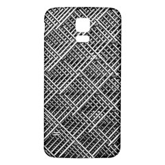 Grid Wire Mesh Stainless Rods Samsung Galaxy S5 Back Case (white)