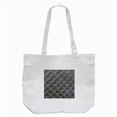 Grid Wire Mesh Stainless Rods Tote Bag (white)