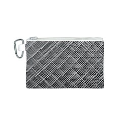 Grid Wire Mesh Stainless Rods Canvas Cosmetic Bag (s)