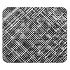Grid Wire Mesh Stainless Rods Double Sided Flano Blanket (small)