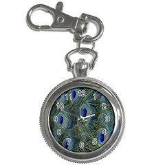 Peacock Feathers Blue Bird Nature Key Chain Watches