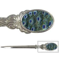 Peacock Feathers Blue Bird Nature Letter Openers