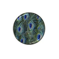 Peacock Feathers Blue Bird Nature Hat Clip Ball Marker