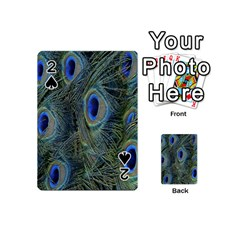 Peacock Feathers Blue Bird Nature Playing Cards 54 (mini)