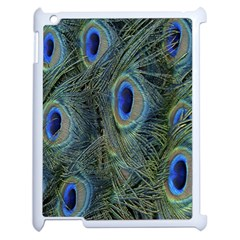 Peacock Feathers Blue Bird Nature Apple Ipad 2 Case (white)