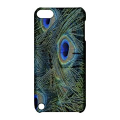 Peacock Feathers Blue Bird Nature Apple Ipod Touch 5 Hardshell Case With Stand