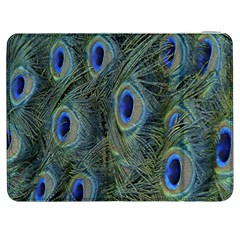 Peacock Feathers Blue Bird Nature Samsung Galaxy Tab 7  P1000 Flip Case
