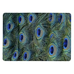 Peacock Feathers Blue Bird Nature Samsung Galaxy Tab 10 1  P7500 Flip Case