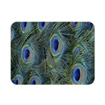 Peacock Feathers Blue Bird Nature Double Sided Flano Blanket (Mini)  35 x27 Blanket Back