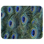 Peacock Feathers Blue Bird Nature Double Sided Flano Blanket (Medium)  60 x50 Blanket Front