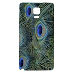 Peacock Feathers Blue Bird Nature Galaxy Note 4 Back Case Front