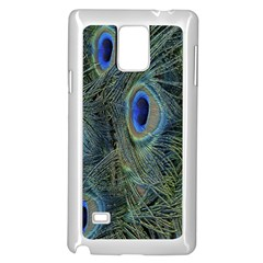 Peacock Feathers Blue Bird Nature Samsung Galaxy Note 4 Case (white)