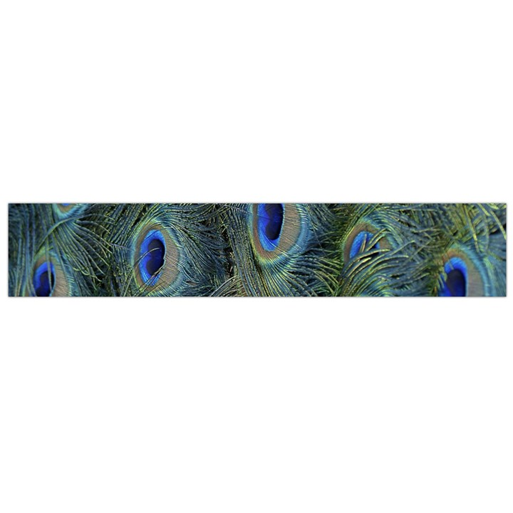 Peacock Feathers Blue Bird Nature Flano Scarf (Large)