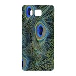 Peacock Feathers Blue Bird Nature Samsung Galaxy Alpha Hardshell Back Case Front