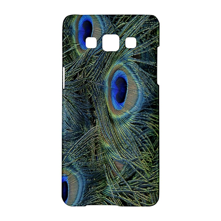 Peacock Feathers Blue Bird Nature Samsung Galaxy A5 Hardshell Case