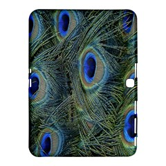 Peacock Feathers Blue Bird Nature Samsung Galaxy Tab 4 (10 1 ) Hardshell Case