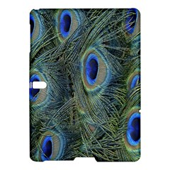 Peacock Feathers Blue Bird Nature Samsung Galaxy Tab S (10 5 ) Hardshell Case