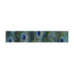 Peacock Feathers Blue Bird Nature Flano Scarf (mini)