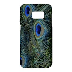Peacock Feathers Blue Bird Nature Samsung Galaxy S7 Hardshell Case
