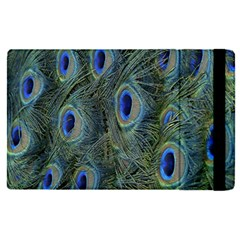 Peacock Feathers Blue Bird Nature Apple Ipad Pro 12 9   Flip Case