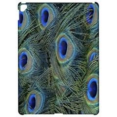 Peacock Feathers Blue Bird Nature Apple Ipad Pro 12 9   Hardshell Case