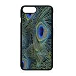 Peacock Feathers Blue Bird Nature Apple iPhone 7 Plus Seamless Case (Black) Front