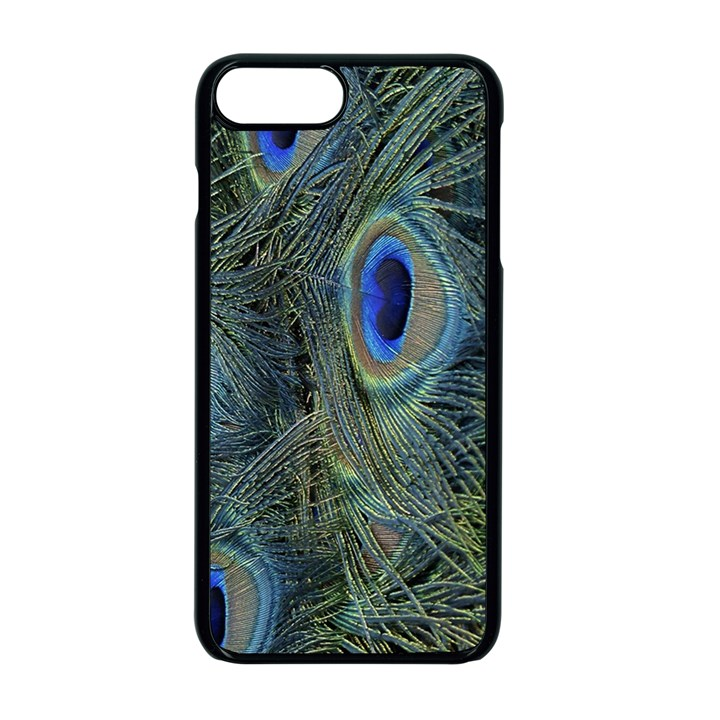 Peacock Feathers Blue Bird Nature Apple iPhone 7 Plus Seamless Case (Black)
