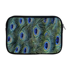 Peacock Feathers Blue Bird Nature Apple Macbook Pro 17  Zipper Case