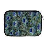 Peacock Feathers Blue Bird Nature Apple MacBook Pro 17  Zipper Case Front