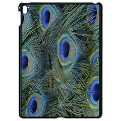 Peacock Feathers Blue Bird Nature Apple Ipad Pro 9 7   Black Seamless Case
