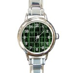 Matrix Earth Global International Round Italian Charm Watch Front