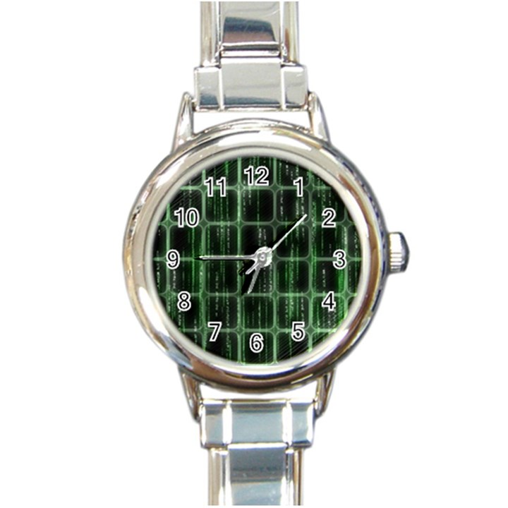 Matrix Earth Global International Round Italian Charm Watch