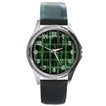 Matrix Earth Global International Round Metal Watch Front