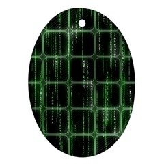 Matrix Earth Global International Ornament (oval)