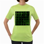 Matrix Earth Global International Women s Green T-Shirt Front