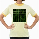 Matrix Earth Global International Women s Fitted Ringer T-Shirts Front