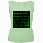 Matrix Earth Global International Women s Green Tank Top Front