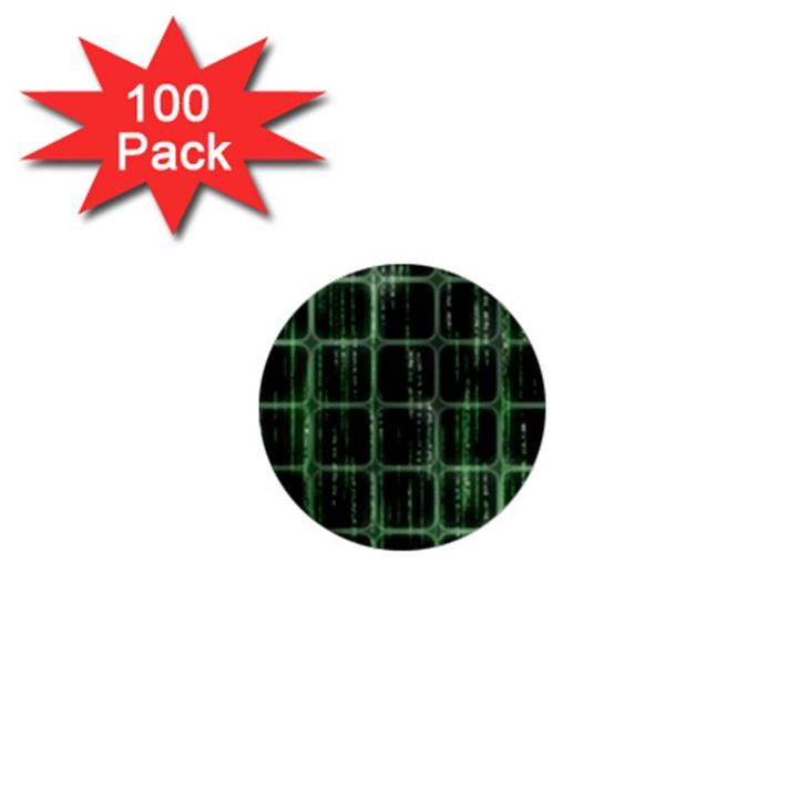 Matrix Earth Global International 1  Mini Buttons (100 pack)