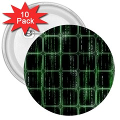 Matrix Earth Global International 3  Buttons (10 Pack)