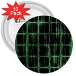 Matrix Earth Global International 3  Buttons (10 pack)  Front