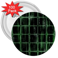 Matrix Earth Global International 3  Buttons (100 Pack)
