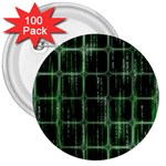Matrix Earth Global International 3  Buttons (100 pack)  Front