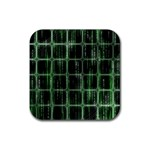 Matrix Earth Global International Rubber Square Coaster (4 pack)  Front
