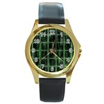 Matrix Earth Global International Round Gold Metal Watch Front