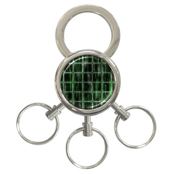 Matrix Earth Global International 3-Ring Key Chains