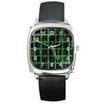 Matrix Earth Global International Square Metal Watch Front