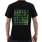 Matrix Earth Global International Men s T-Shirt (Black) (Two Sided) Back