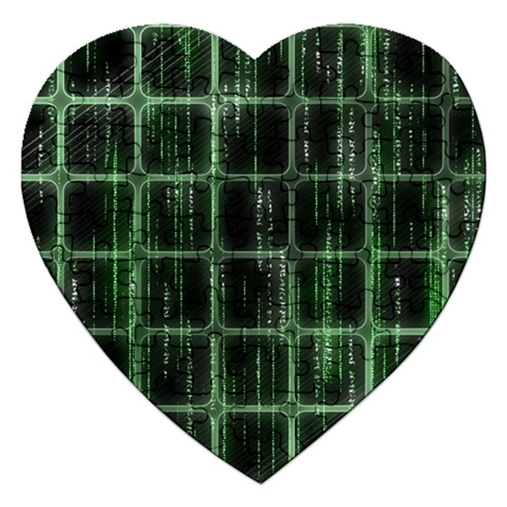 Matrix Earth Global International Jigsaw Puzzle (Heart)