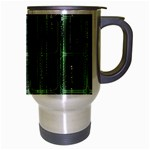 Matrix Earth Global International Travel Mug (Silver Gray) Right